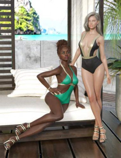 Girls of Summer I Outfit for Genesis 8 and 8.1 Females