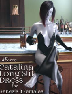 dForce Catalina Long Slit Dress for Genesis 8 Females