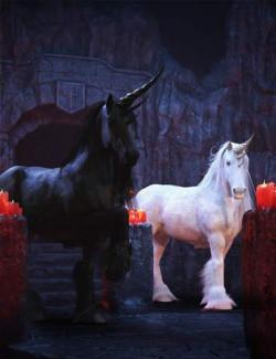 DA Dark Unicorn for Daz Horse 2