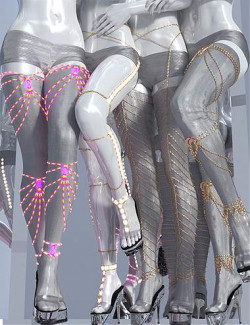 Leg Chains 3 for Genesis 3 and 8 Females