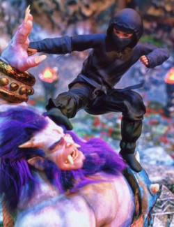 Ninja Kid Outfit for Genesis 8.1 Males