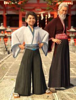 dForce Hakama and Kimono Outfit Textures