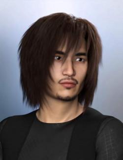 dForce Kiru Hair for Genesis 3, 8, and 8.1