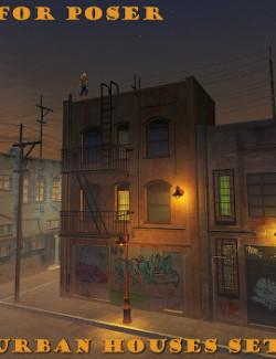 Urban Houses set  for Poser