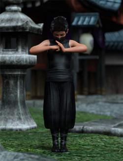Little Ninja Poses for Kayden HD 8.1