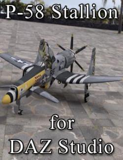 P-58 Stallion for DAZ Studio