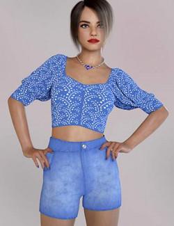 dForce Mari Outfit for Genesis 8 and 8.1 Females