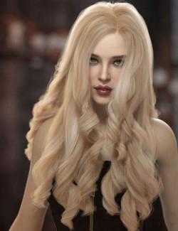 Oneida Hair for Genesis 3, 8, and 8.1 Females