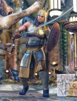 dForce Land Guard Outfit for Genesis 8 and 8.1 Males