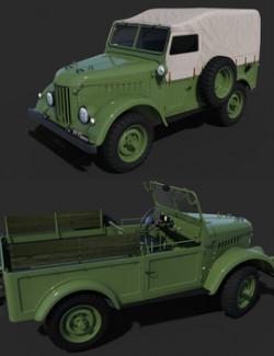 GAZ 69 TROOP CARRIER for DAZ Studio