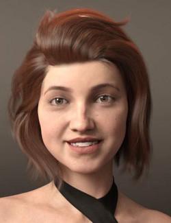 Lan Hair for Genesis 8 and 8.1 Females