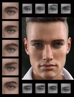 Bold Brows II Merchant Resource for Genesis 8 and 8.1 Males