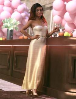 dForce Gala Dress for Genesis 8 Female(s)