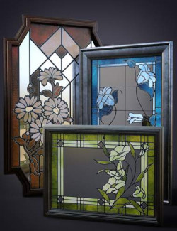 B.E.T.T.Y. Stained Glass Mirrors
