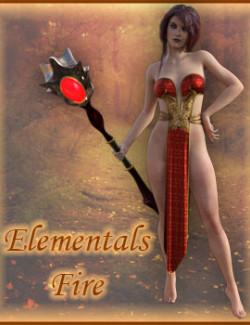 dForce Elementals Fire for Genesis 8.1 Female