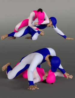 Grappling Poses Volume 5 for Genesis 8 and 8.1
