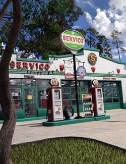Servico Vintage Gas Station