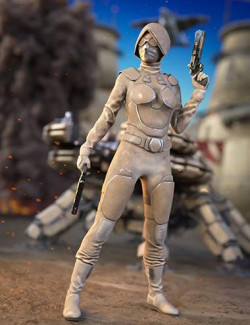 Desert Soldier Outfit for Genesis 8.1 Females