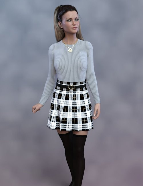 dForce Cecille Outfit for Genesis 8 and 8.1 Females