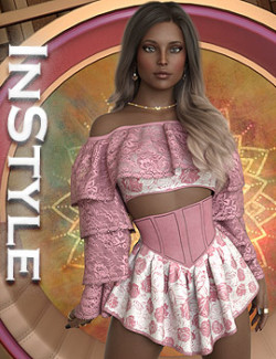 InStyle - dForce Madonna Shorts Outfit for Genesis 8 and 8.1 Females