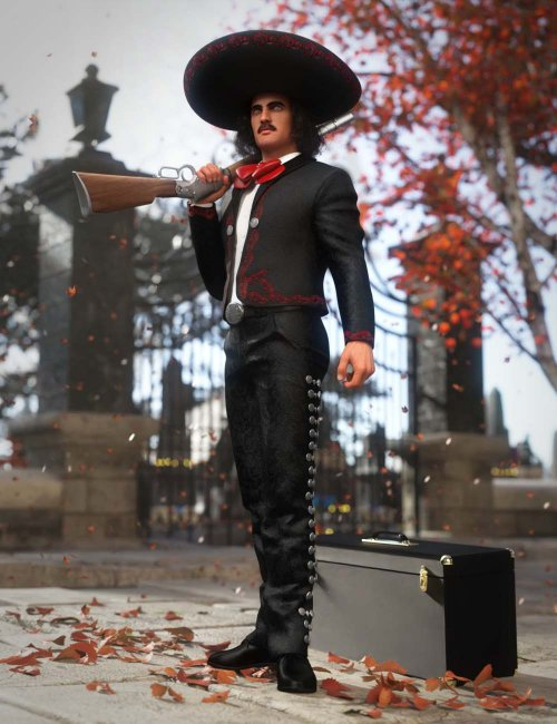 Mariachi Outfit for Genesis 8 and 8.1 Males