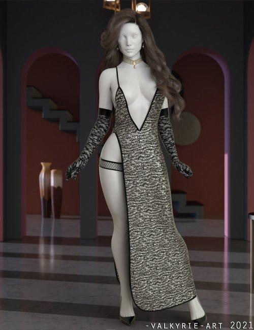 InStyle - dForce Catalina Long Slit Dress for Genesis 8 Females