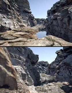 HD Scans Rocky Path