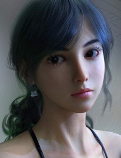 Vo Xiao Hua HD and Hair for Genesis 8.1 Female