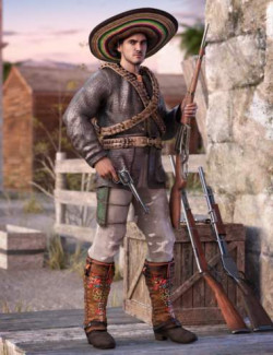 Guerrillero Outfit for Genesis 8 and 8.1 Males