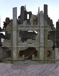 Destroyed House.  Apocalypse