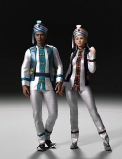 dForce Bai Outfit for Genesis 8 and 8.1 Male