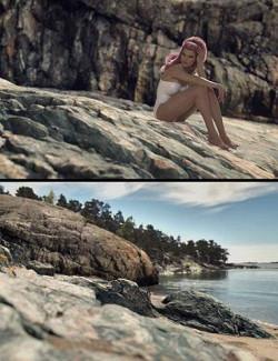 HD Scans Beach Rocks