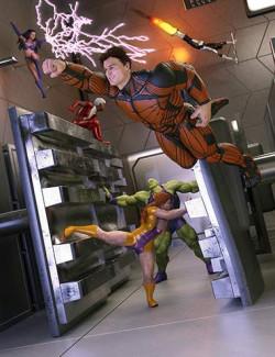 Hero-in-Training Genesis 8 Poses: Aces
