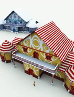 Santa's Cottage for Poser