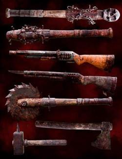 Zombie Weapons Set