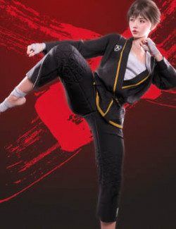 Fight like a Girl dForce outfit for Genesis 8 & 8.1 Females