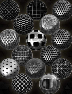 Fencing And Perforated Metal Iray Shader Collection