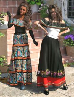 dForce Dia de los Muertos Outfit Textures