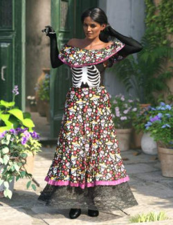 dForce Dia de los Muertos Outfit for Genesis 8.1 Females