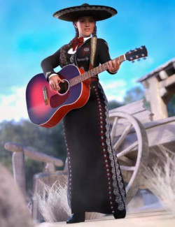 dForce Mariachi Outfit for Genesis 8.1 Females