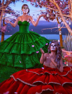 dForce Fiesta Dress Textures