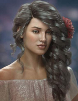 Gloriana Hair for Genesis 3, 8, and 8.1 Females