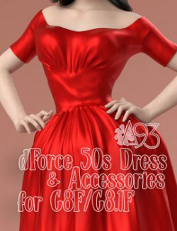 a93- 50s Dress and Accessories for G8F and G8.1F