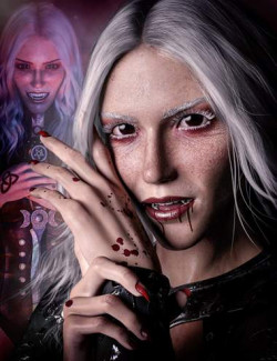 Dhampir the Dark Angel for Genesis 8.1 Female